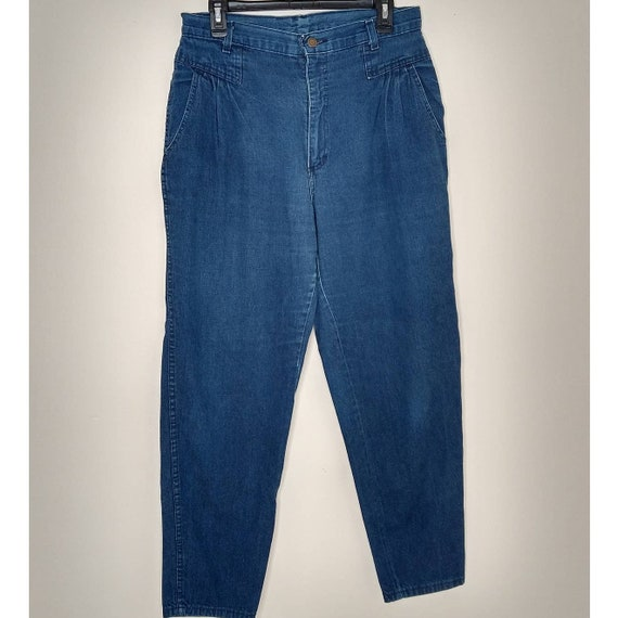 80's Vintage High Waisted Tapered Cropped Mom Jean