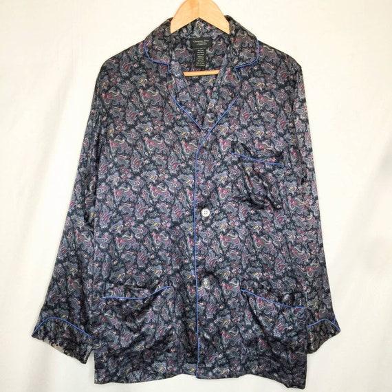 Vintage Christian Doir Silk Pajama Top