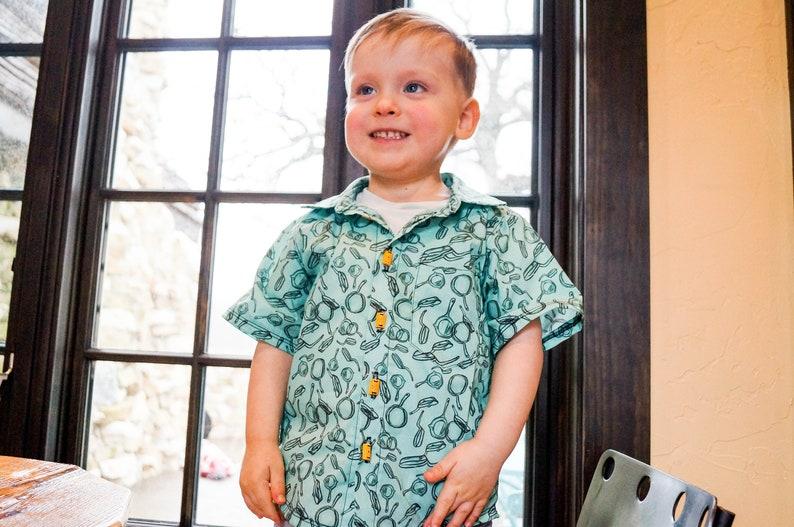 Flynn Rider Disneybound Boys Button Up Shirt