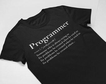 6aef336b Programmer T Shirt, Programmer Definition, Debugging Shirt, Computer Web  Software Coder Developer Gift