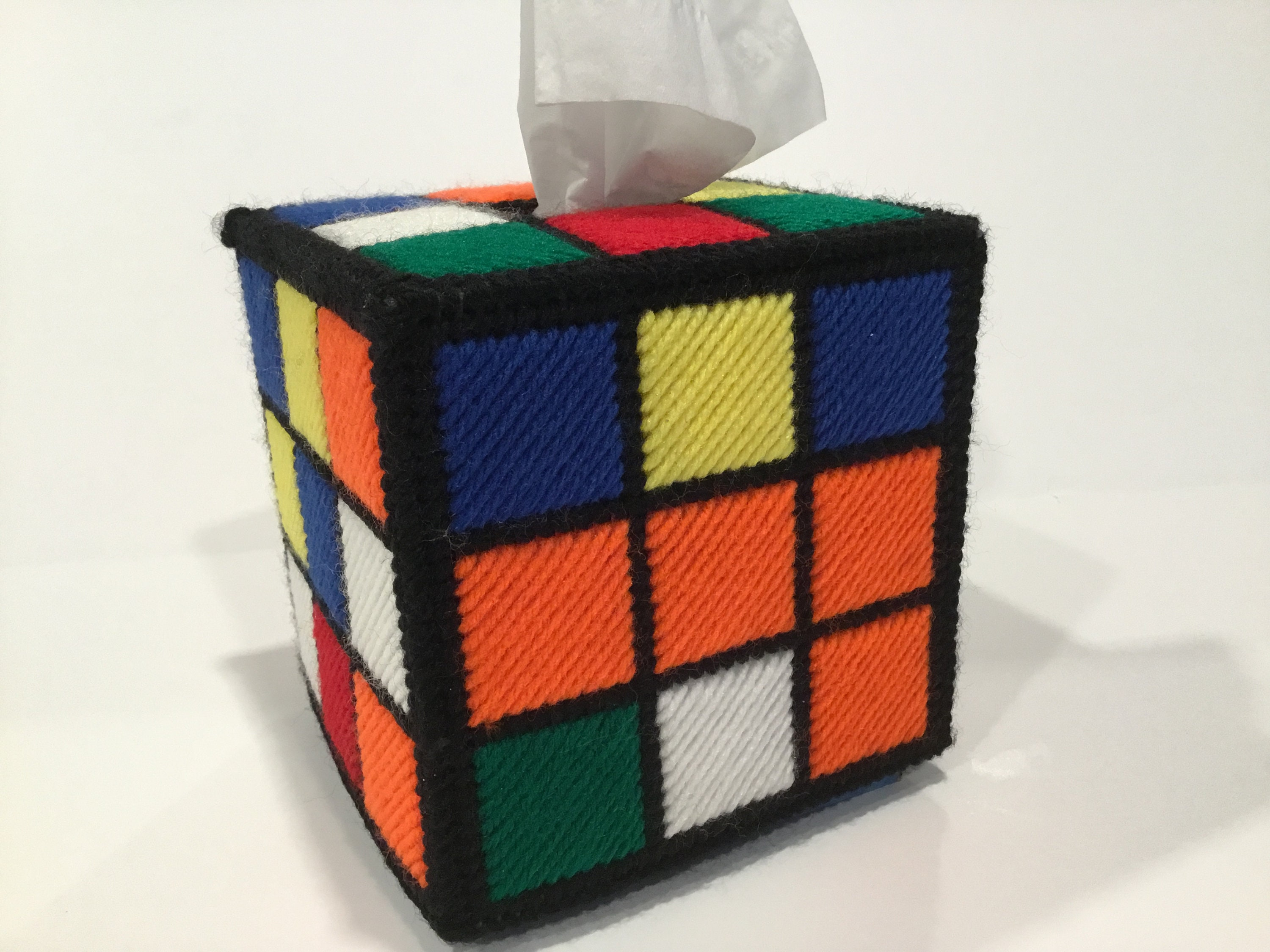 rubiks cube tissue box cover from big bang theory tv show. Black Bedroom Furniture Sets. Home Design Ideas
