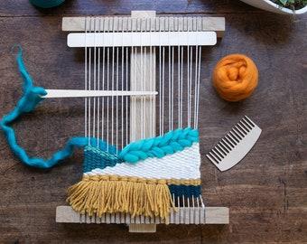 32fb9b4490 Weaving Loom oak and Tool Kit   Weaving Kit   Beginner Weave Loom   Frame  Loom Kit   Tapestry Loom  Frame Loom Kit