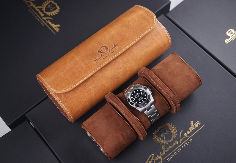 Handmade Luxury Watch Case Travel Case by Bosphorus Leather  23985e8f8e04e