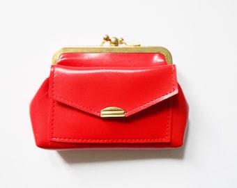 4c002629f84be Vintage Geldböres   1970s purse   vintage Purse red   70er Portemonnaie    70er Jahre Geldbörse