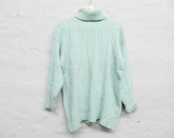 f5c470d590a Turtleneck sweater Marco Pecci 1980s sweater vintage sweater turtleneck  sweater blue cashmere