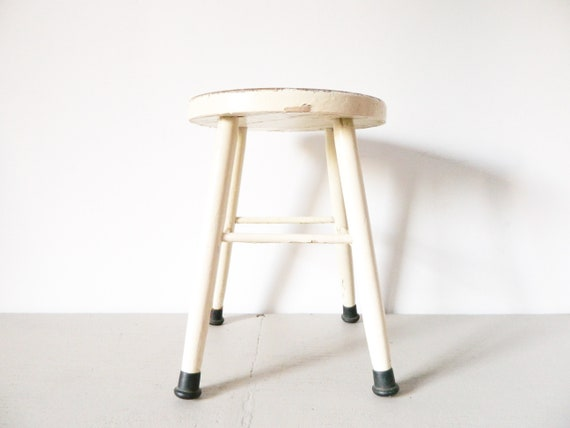 Shabby stool/old stool/wooden stool/antique stool/stool wood/industrial stool/stool Wood