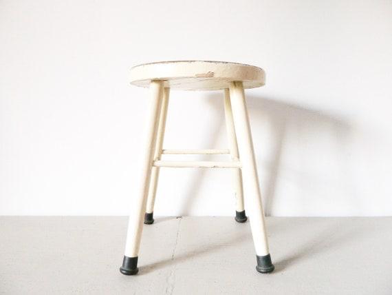 Shabby stool/old stool/wooden stool/antique stool/stool wood/industrial stool/stool Wood