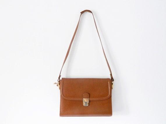 70 's handbag/leather bag brown/vintage bag leather/Shoulder bag Brown/1970 's Bag/vintage bag
