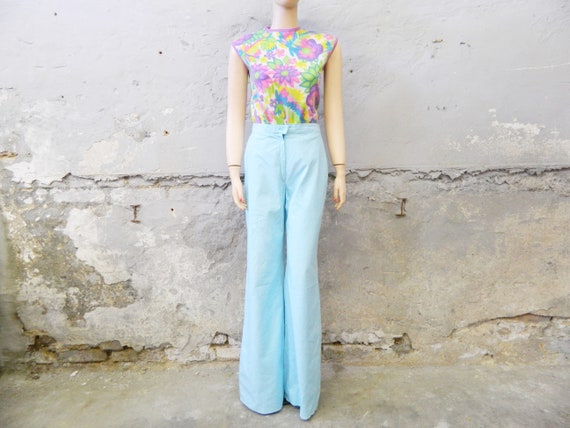 Impact pants/70s pants/pants light blue/summer pants/vintage pants
