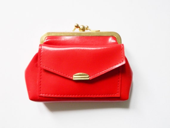 Vintage Geldböres/1970 's purse/vintage purse red/70s wallet/70s Purse