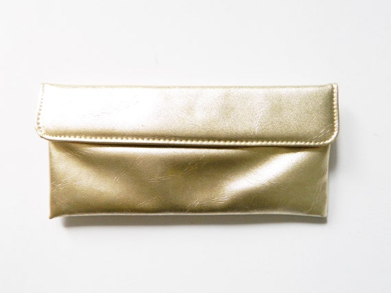 Evening bag Gold/vintage Clutch gold/70s bag/1970 's bag/party bag