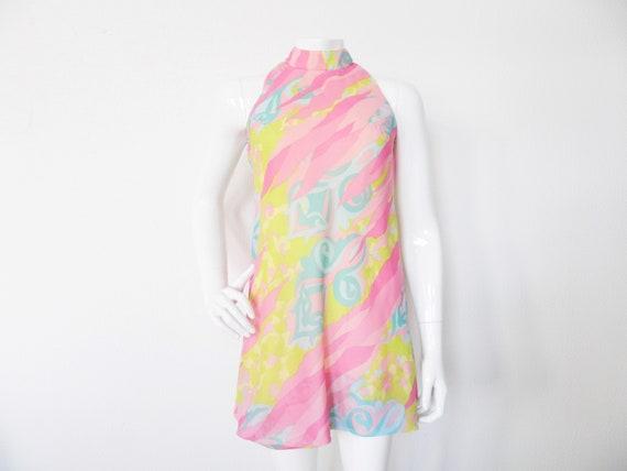 70s dress/Vintage dress/1970 's dress/70s dress colorful/party dress/A-form dress