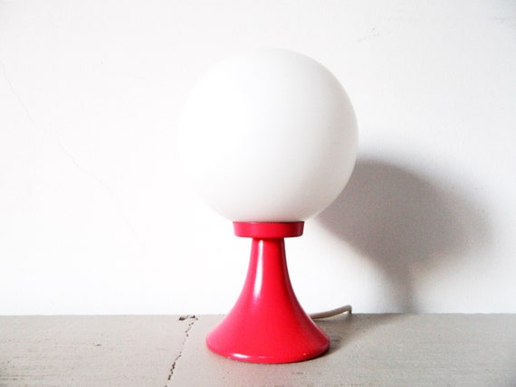 70s table lamp/70s lamp/ball lamp/night table lamp/Vintage lamp/1970 's Lamp/Vintage lamp