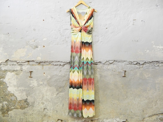 Maxi dress / colorful dress long / floor length dress / stretch dress