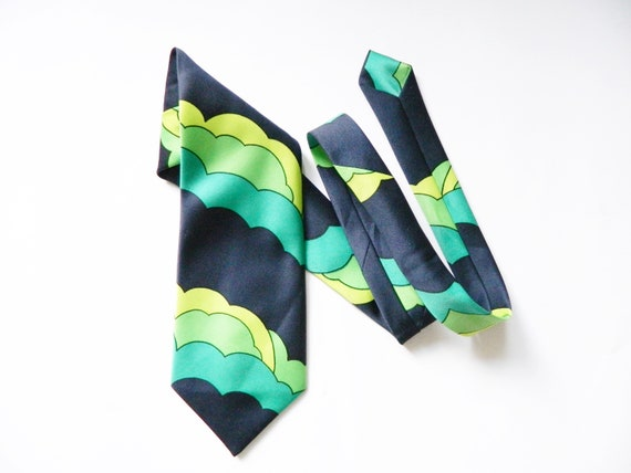 70s tie/vintage tie/Vintage tie/1970 's cravat/tie made in Germany