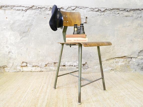 30s industrial Chair/Work chair/industrial/vintage chair/art deco/factory/Workshop Chair