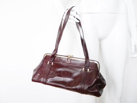 70s bag/seventies bag 7vintage bag/70s handbag/vintage leather bag/leather handbag