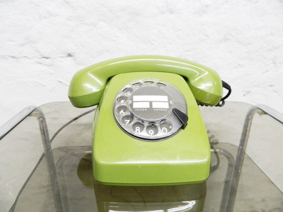Post phone/phone dial/70s phone green/cult phone/green phone