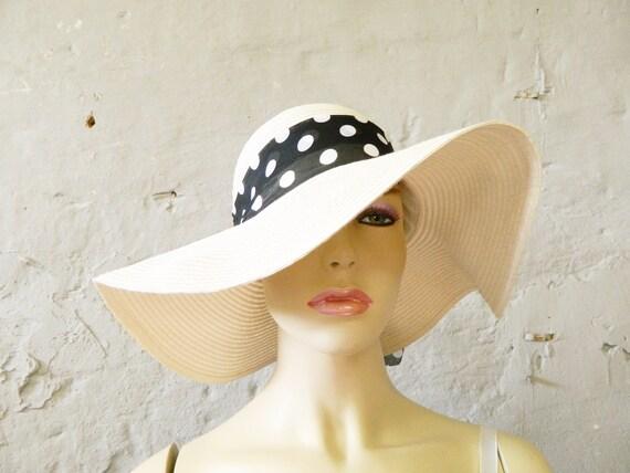 Large sun hat / floppy hat / 80s hat / vintage hea