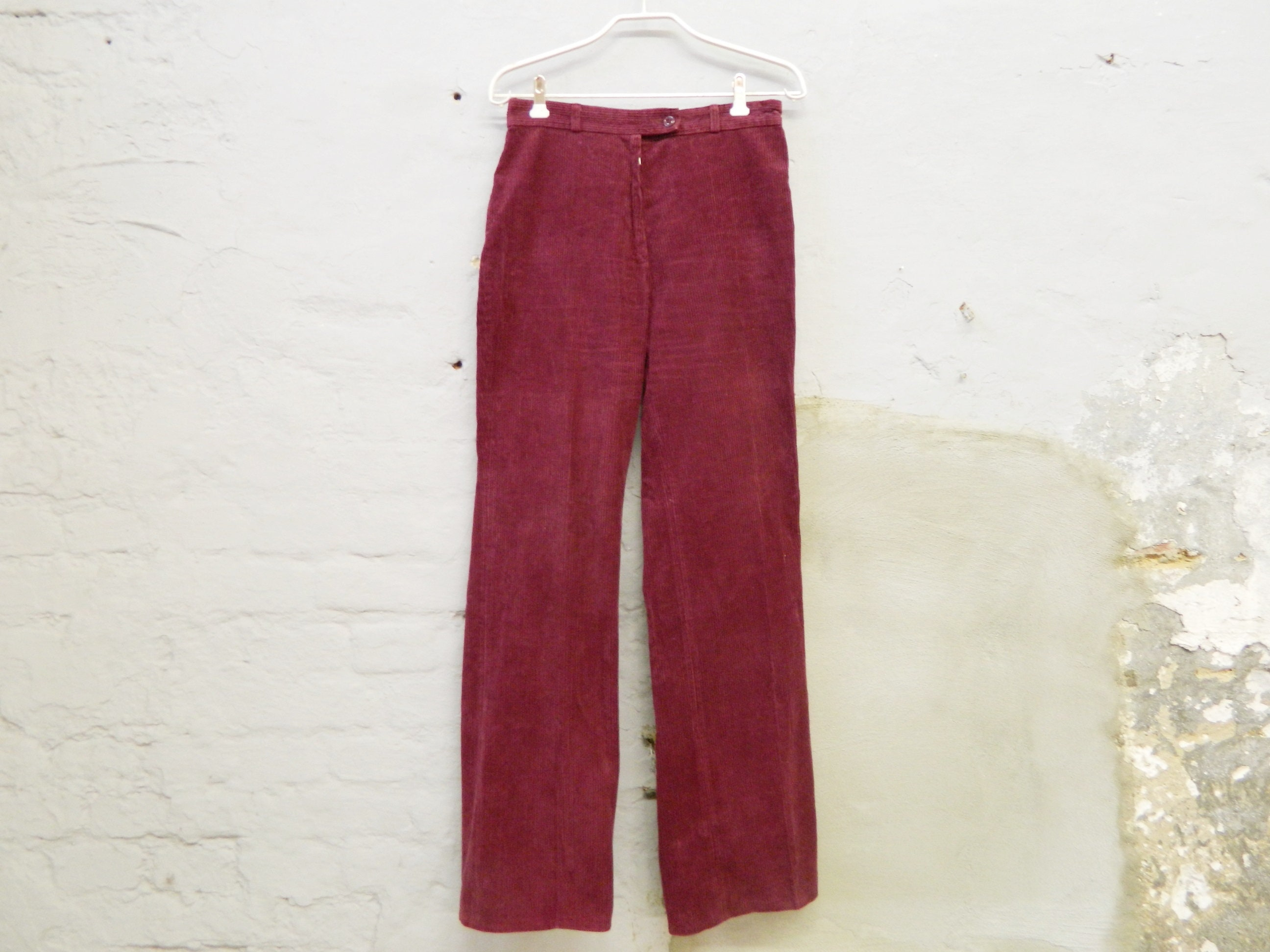 70s Corduroys Pants Cord Pant Trousers With Punch Red