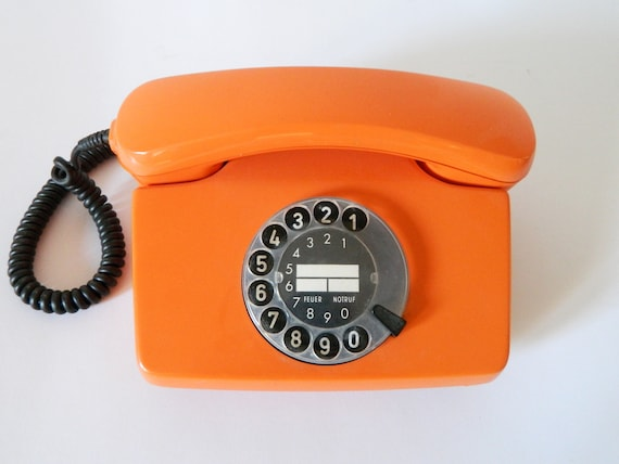 Post phone/vintage phone/80s phone/Phone orange/Vintage phone Deutsche Post