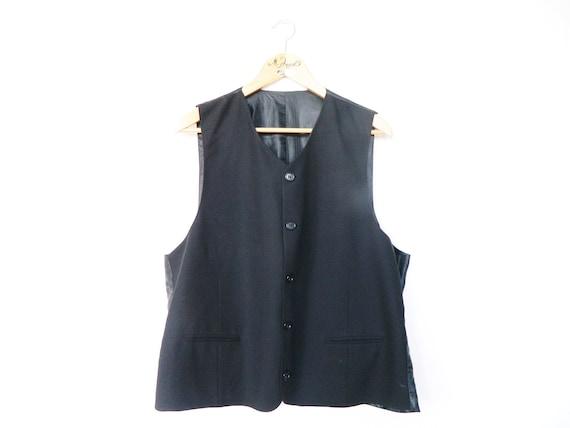 80s men vest/men Vest Black/vintage vest/men vest/Vintage Vest Black/1980 's Vest/vintage waistcoat