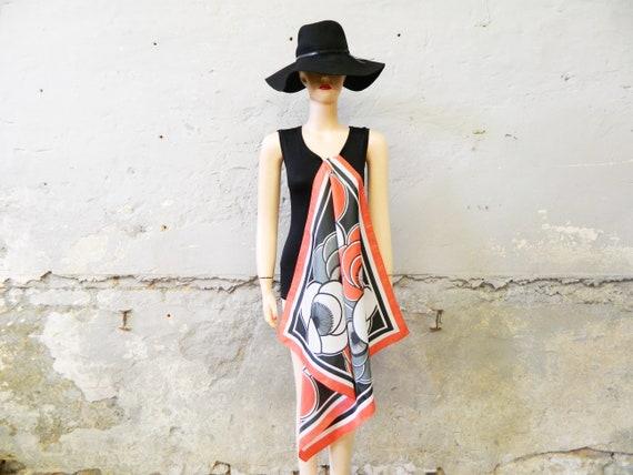 70s cloth/vintage headscarf/halscarf/70s scarf colorful
