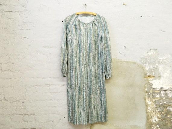 1970s Dress green/vintage dress green/tunic dress/70s dress overdress/tunic