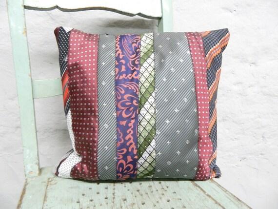 Pillow ties/vintage pillow/men pillow/vintage pillow