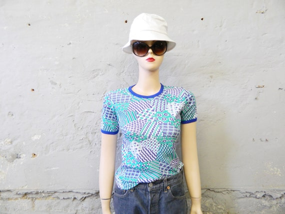 70s shirt/t-shirt/vintage shirt cotton/1970s top