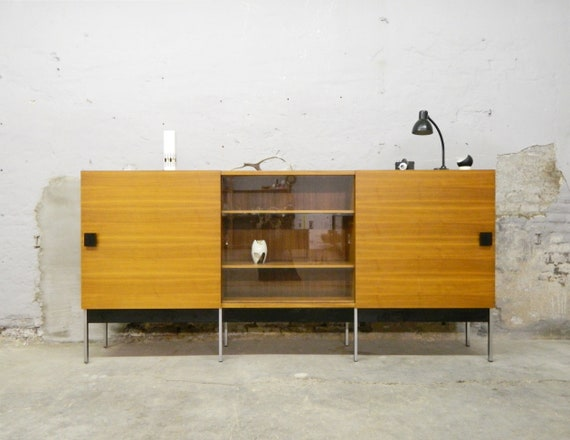 60s Sideboard/60s Living Room cupboard/large Sideboard/Highboard/vintage Cupboard Walnut
