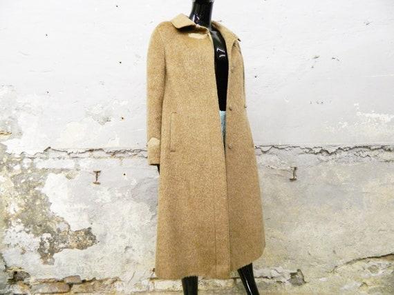 1970s coat brown / vintage coat / winter coat / co