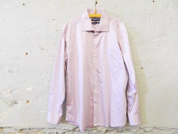 vintage shirt / 70s shirt men / Westbury shirt lilac / men's shirt