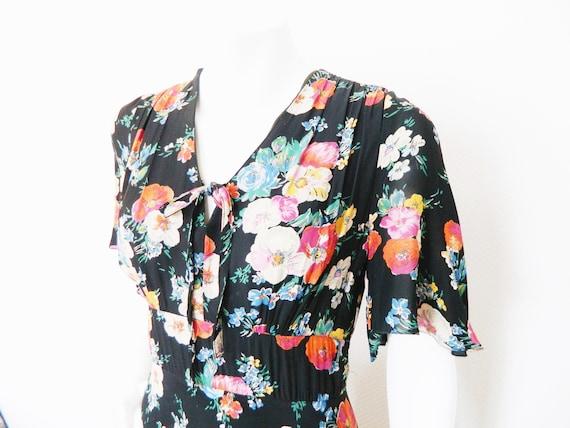 70s dress/flower dress/Vintage dress/70s dress/Vintage dress flower/Maxi dress
