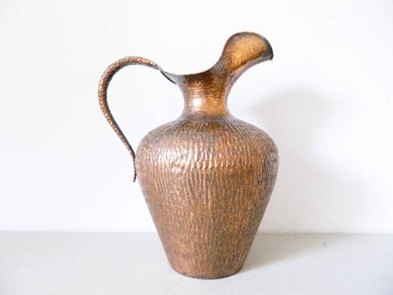 XL Copper Floor vase/60s can Treto Valsugana/1960 's bottom vase/ground pot/60s pot copper