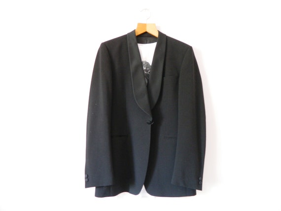 "Tuxedo jacket ""frank""/smoking blazer/vintage jacket/vintage jacket Black/men's jacket/vintage coat/jacket black/70s Jacket"