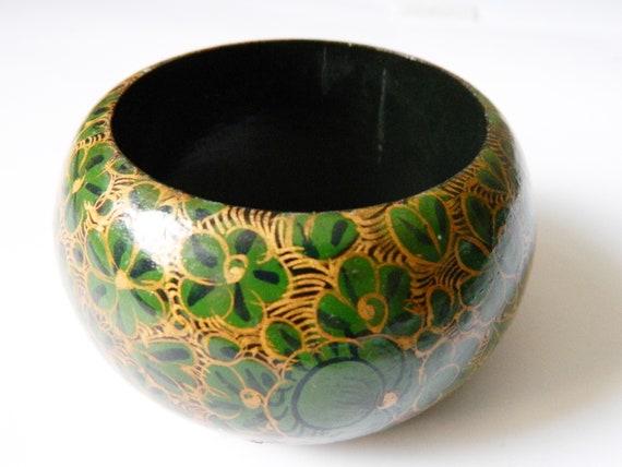 70s bangle / vintage bangle wood / boho bangle / vintage bracelet / bangle green / woodstrap / bracelet