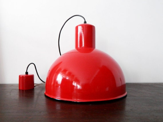 XL Industrial Lamp Denmark/Abo Randers Lamp, Hanging Lamp, Enamel Lamp/Vintage Lamp/196m lamp