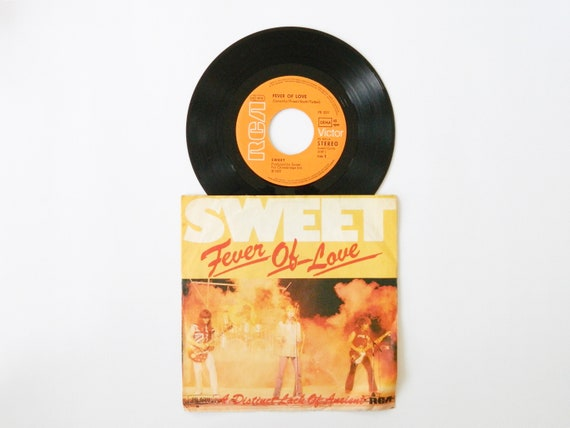 Sweet record fever of love 1977/sweet vinyl/records/45 rpm Sweet/music Rock