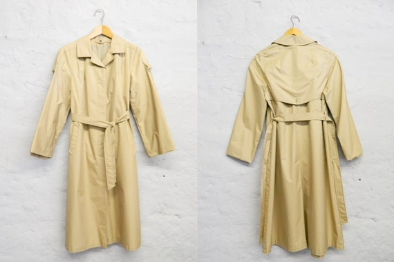 70s Trench Coat/vintage Coat/raincoat/Trench beige/vintage Trench Coat