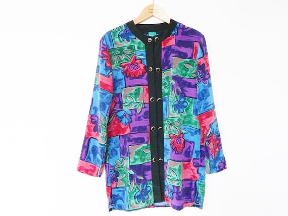 Tunic blouse Canda 70s/vintage blouse/colorful tunic/long blouse 1970s