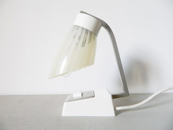 1960s bedside lamp/vintage light/lamp glass plastic/mid century Lamp/1960 's Lamp/Table lamp