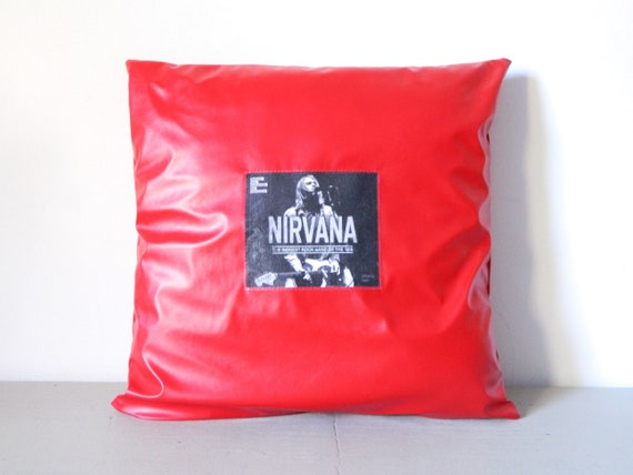 Nirvana Pillow/art/pillow red/photo pillow/fan pillow/pillow Nirvana/Nirvana