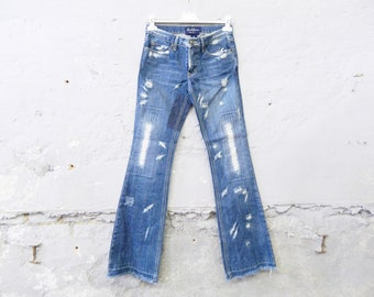 Earl Jean used / vinatge jeans / 1990s pants patches / patch jeans / flare jeans