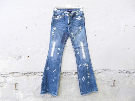 Earl Jean used/vinatge jeans/down pants patches/flick jeans/flare jeans