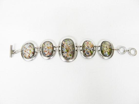 Vintage bracelet / 1990s bracelet stones colorful