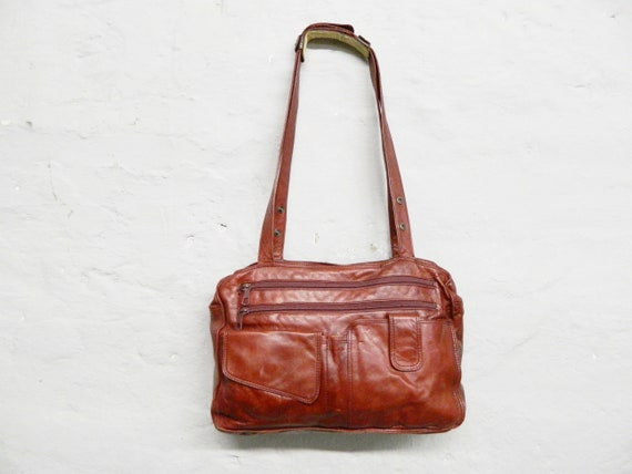 70s bag/shopper red/vintage bag red/faux leather bag large/shoulder bag