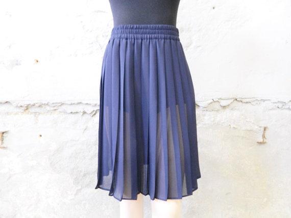 Plissee skirt blue/vinatge skirt/midi skirt, pleated skirt/70s skirt