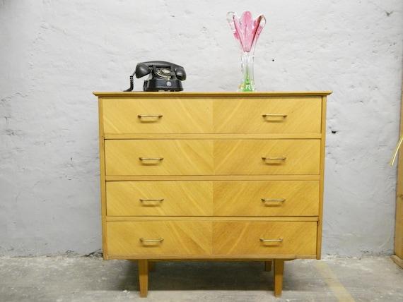 50s dresser/mid century closet/vintage dresser wood/drawer cabinet