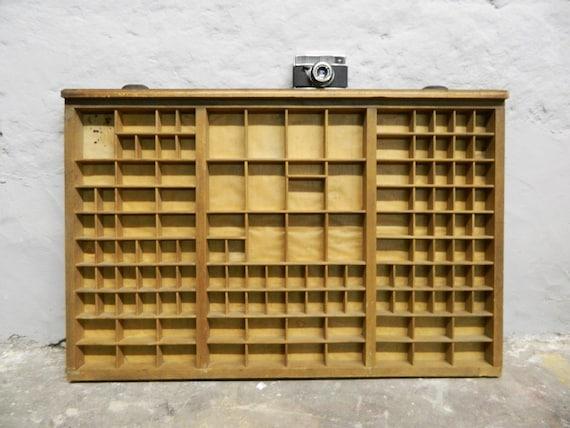 Antique Print Drawer/XXL Wood drawer/30s drawer/wooden box art deco/set-box/print shop